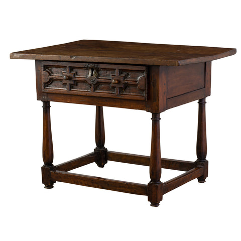 17th Century Spanish Walnut Side Table