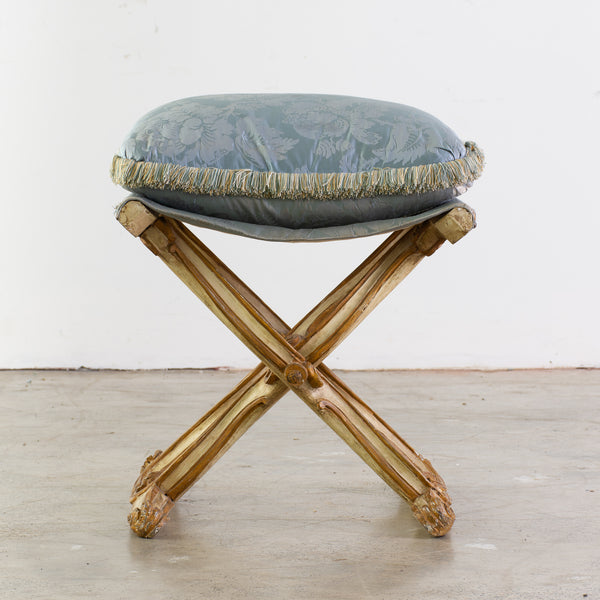 18th Century Style Italian lacquered X-Stool