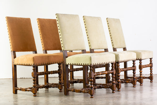A Set of Six Antique Louis XIII Style Chairs