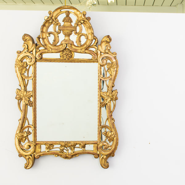 Antique Louis XV Style Giltwood Mirrror ( on hold)
