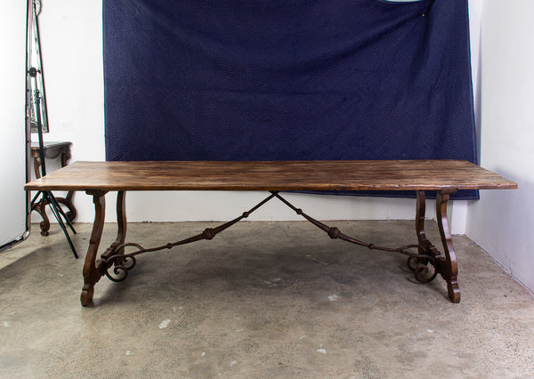 A Spanish Style Wrought Iron Dining Table