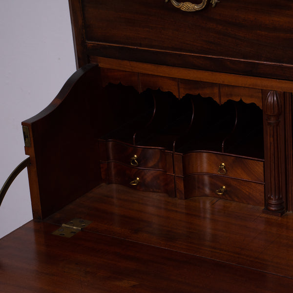 A George III period mahogany Secretaire Chest on Chest