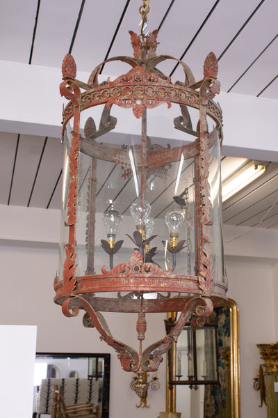 A Large Neo-Classical Style Iron Lantern