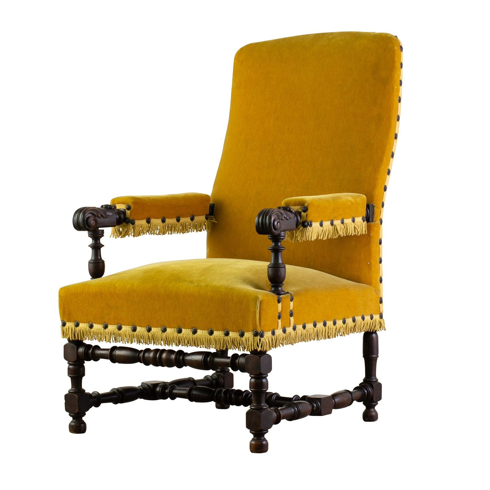 Antique Louis XIII Style Armchair
