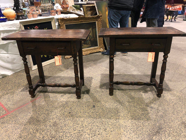 Pair of 19th Century French Provincial Walnut Bedside Tables