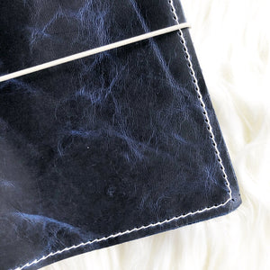 Blue Goldstone/Marbled Blue Goldstone Traveler's Notebook