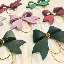 Leather Bow Clip