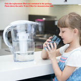 6 Stage 10 Cup Water Filter Pitcher-BPA Free-Clear (Model Number:WP-3)