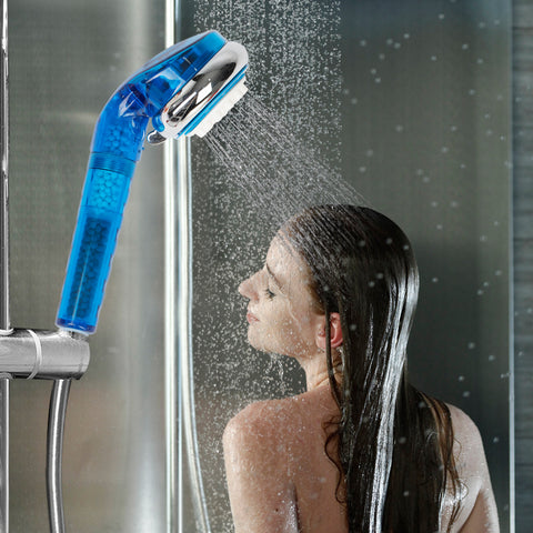 4 Stage Universal Handheld Showerhead Filter -Remove Hardness & Chlorine Add Vitamin C -2 Filters Included-BPA free