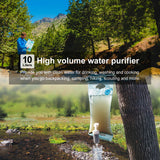 4 Stage 10L Emergency Preparedness Water Purifying Bag for Hiking Camping