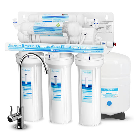 6-Stage Reverse Osmosis Water Filter System + Alkaline Mineral pH+ Remineralization Filter