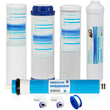 Universal Compatible Reverse Osmosis Filter Replacement Set with 50GPD Membrane-Pack of 5