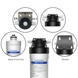4-Stage Ultra Pure UF Under Sink Water Filtration System BPA Free