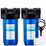 "10"" Big Blue Whole House Water Filter Housing 1"" Outlet/Inlet-Blue (Pack of 2)"