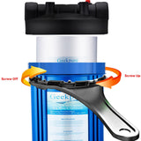 "Whole House Water Filtration System Single Stage w/ 10"" Big Blue Housing 1""NPT Inlet/Outlet & 4.5""x 10"" PP Sediment Filters"