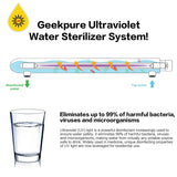 Ultraviolet Light Water Purifier Whole House UV Sterilizer 55w 12GPM 1inch Inlet
