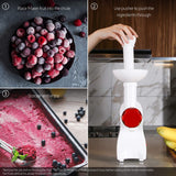 La Reveuse Frozen Dessert Maker, Great for Making Healthy Soft Serve Sherbet, Sorbet, Fruit Ice Cream, Frozen Yogurt for Kids, White, LARB1810