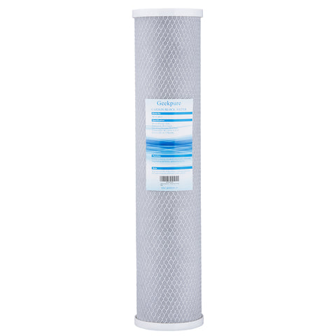 Geekpure 20-Inch Universal Compatible Big Blue Carbon Block Water Filter Cartridge- 4.5 Inch x 20 Inch