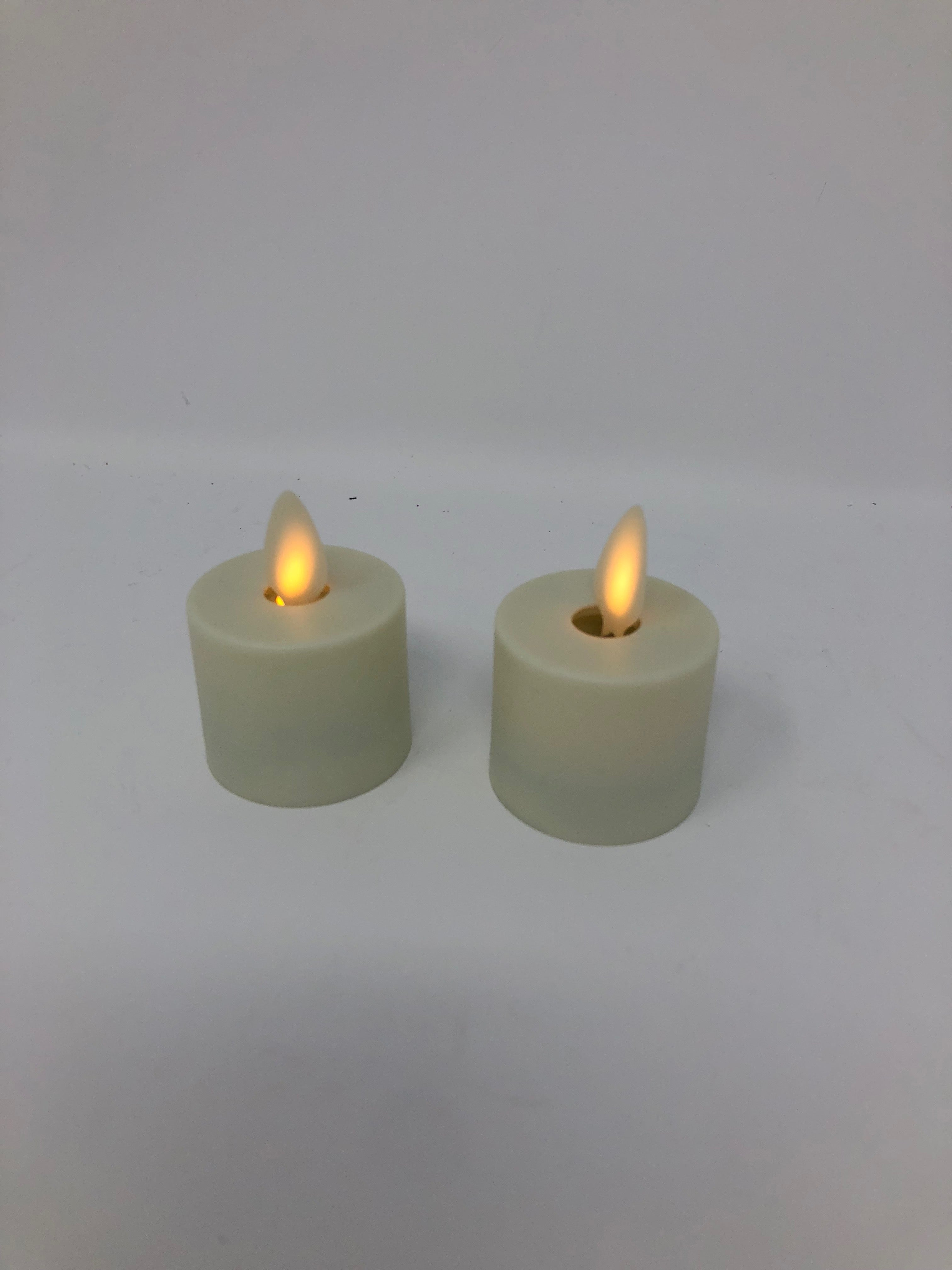 Flameless (2) Tealight Candles (1.5 inch)
