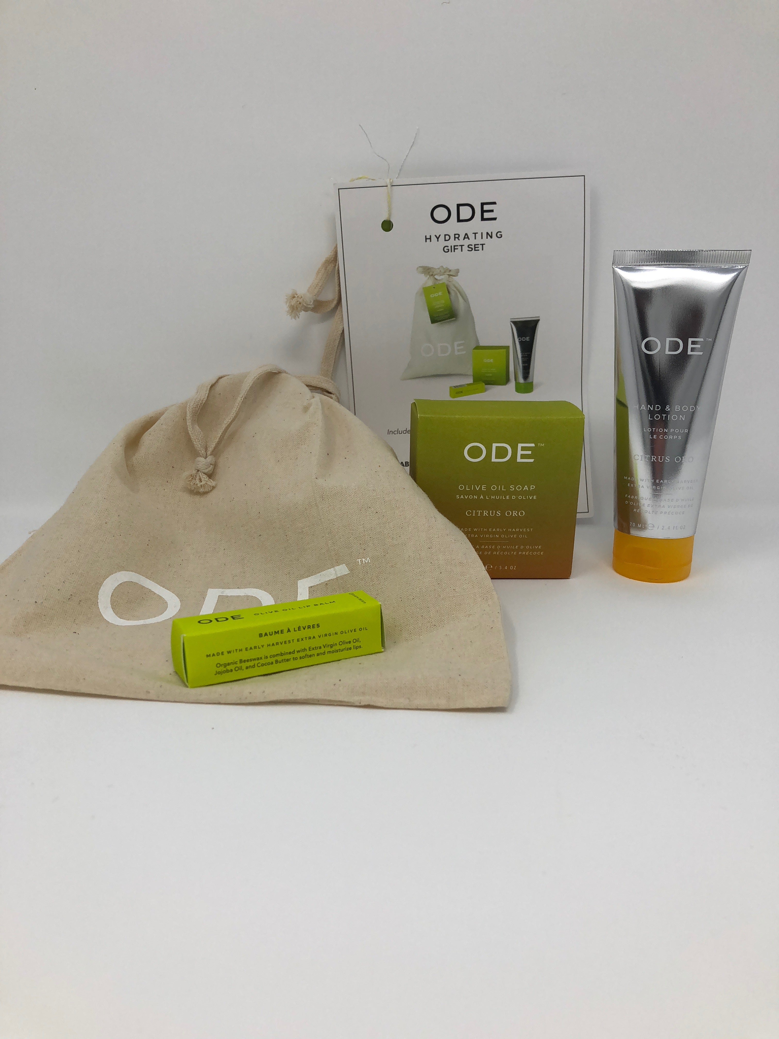 ODE Hydrating Gift Set in Bag