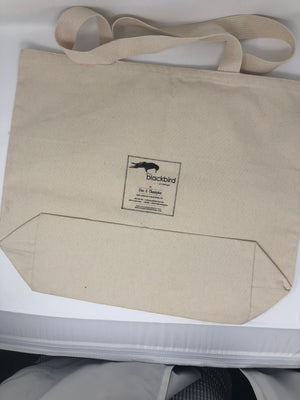 "Custom ""Calistoga"" Tote with Blackbird Logo"
