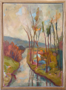 Spring Rain fills Garnet Creek, oil on canvas.