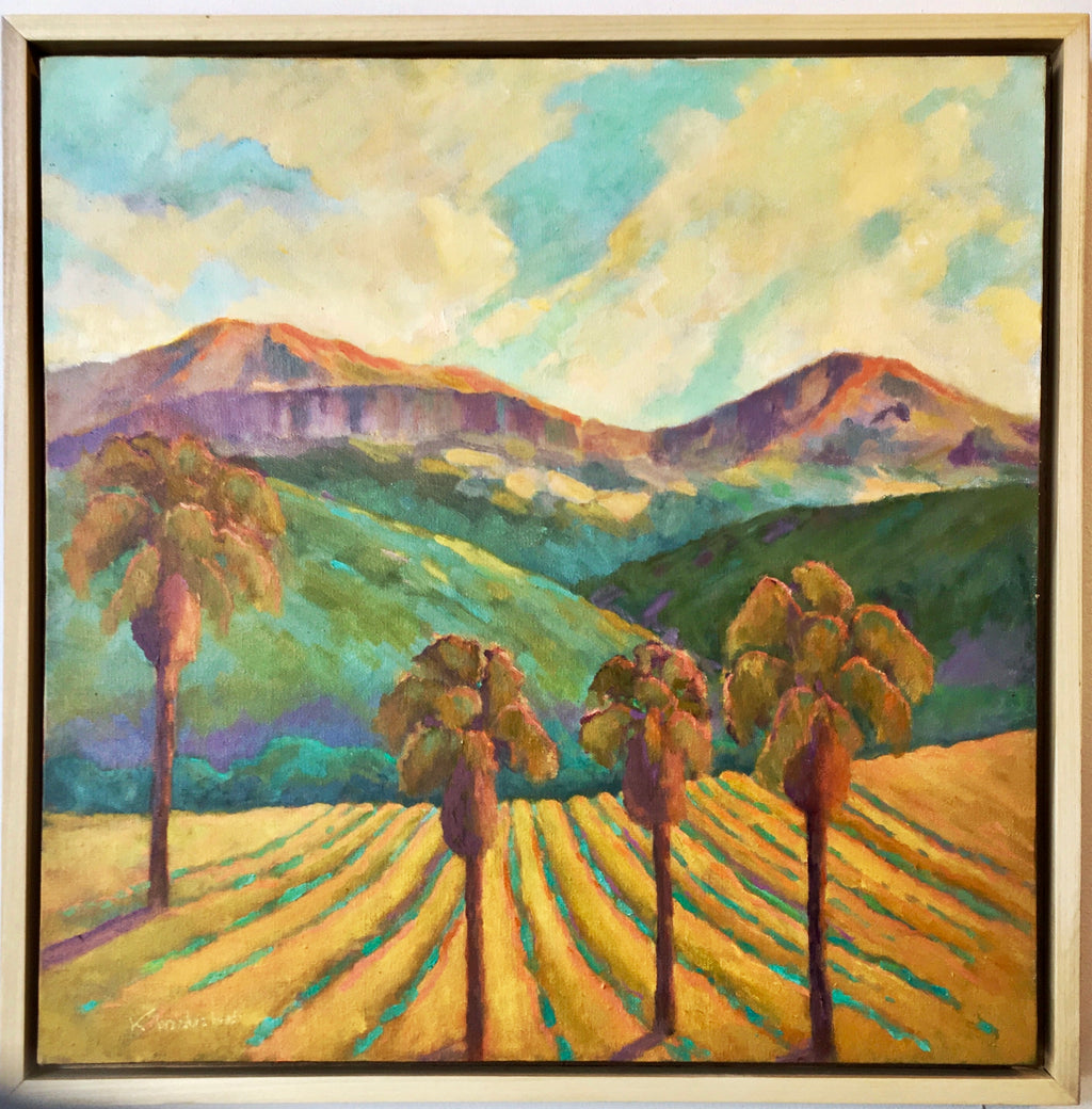 Tropical Moment - Calistoga. Oil Painting on canvas.