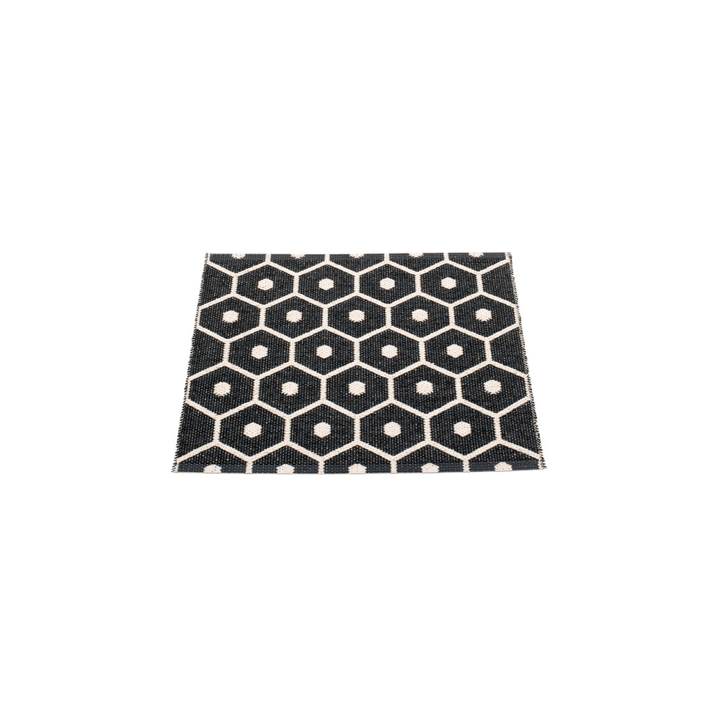 "Pappelina Indoor/Outdoor Rug Honey Black (70cm x 60cm) or (27.6"" x 23.6"")"