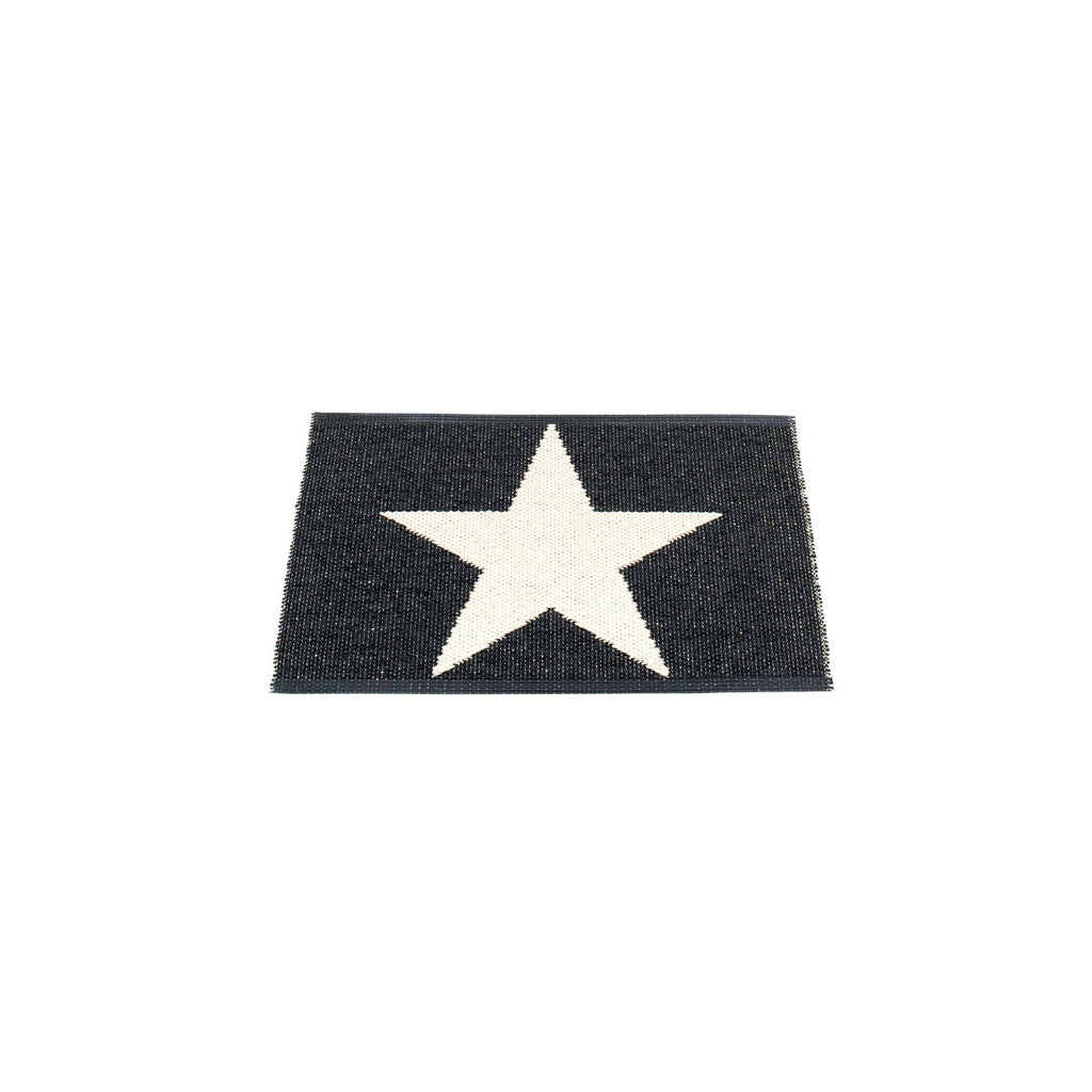 "Pappelina Indoor/Outdoor Rug Viggo Star Black (70cm x 50cm) or (27.6"" x 19.7"")"