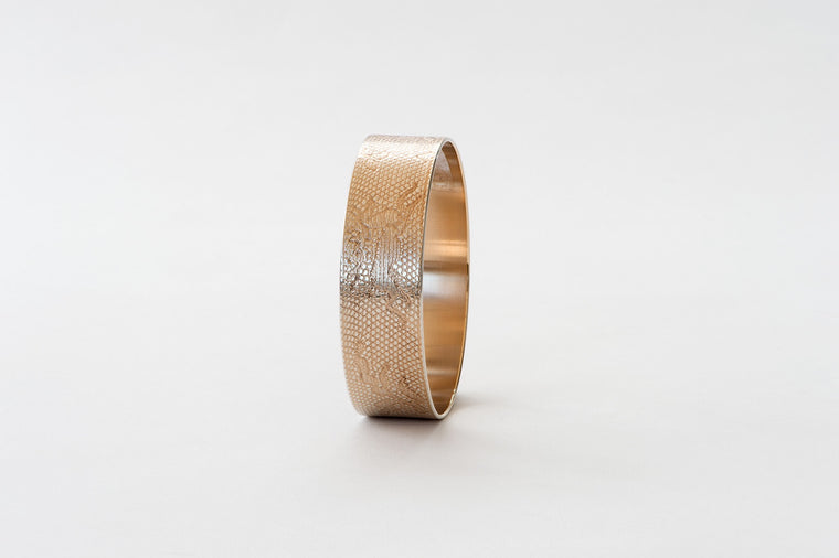 Bangle, Deer  - rose gold/silver