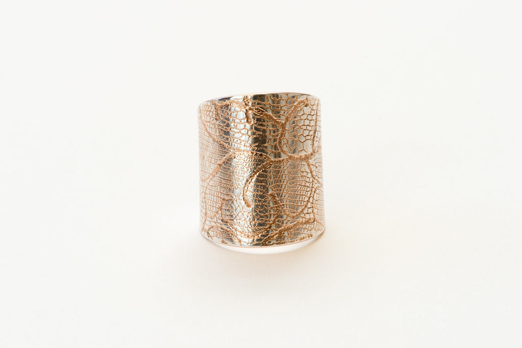 Ring, Chantilly Lace - rose gold/silver