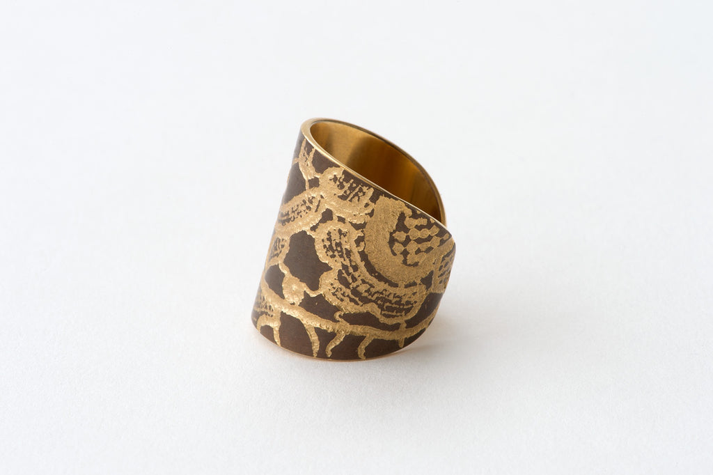 Ring, Chemical Lace - copper/gold
