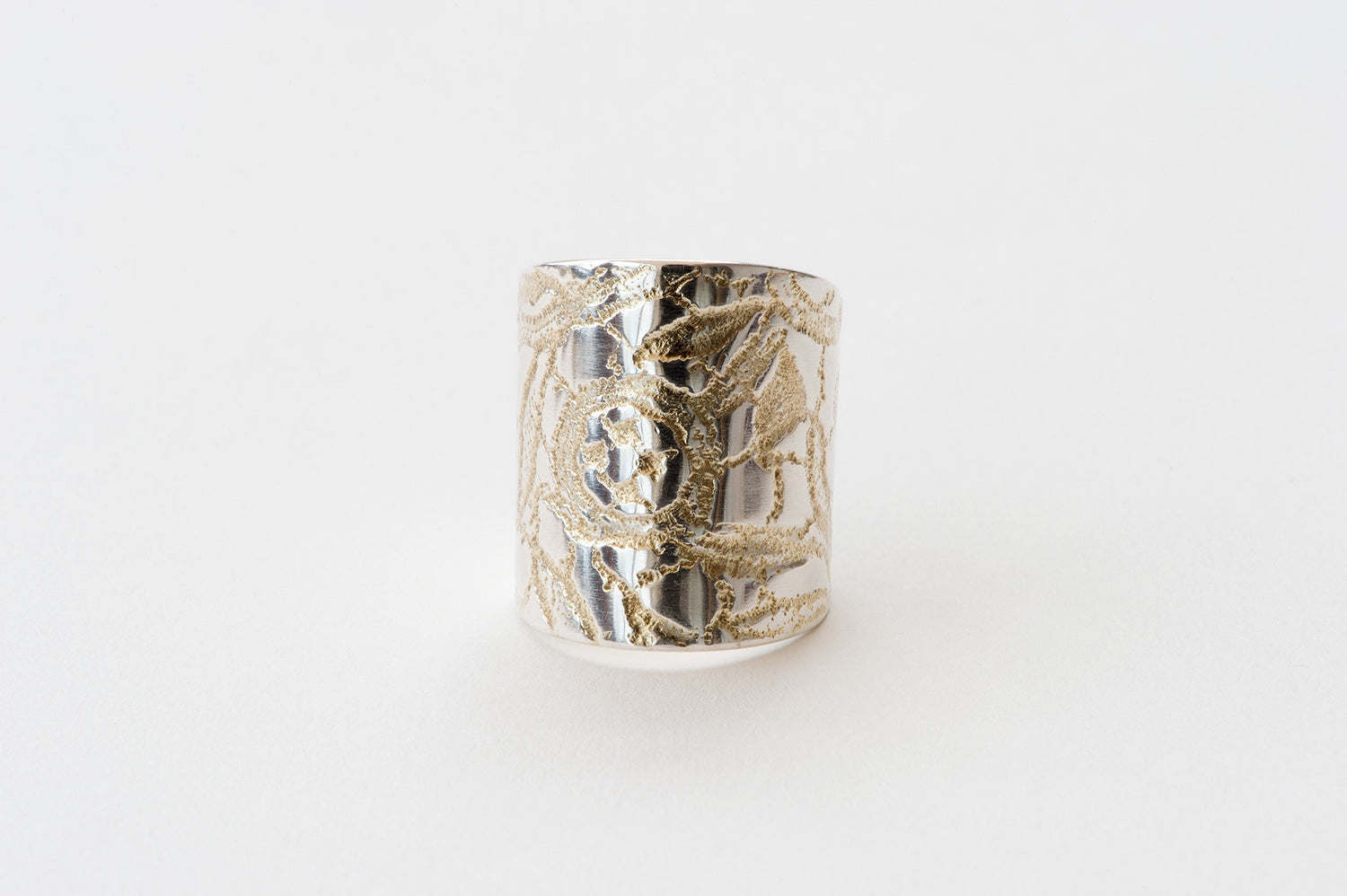 Ring, Chemical Lace - gold/silver