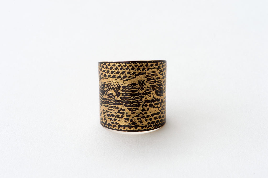 Ring, Elephant - shakudo/gold