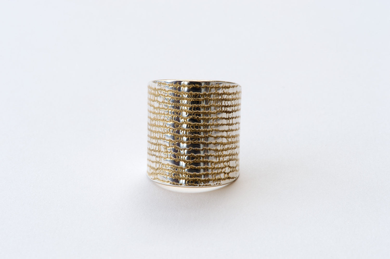 Ring, Machine Filet Lace -  gold/silver