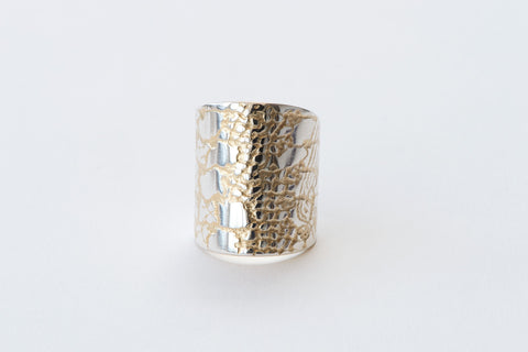 Ring, Reptile Lace - gold/silver