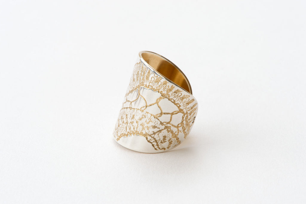 Ring, Tape Lace - gold/silver