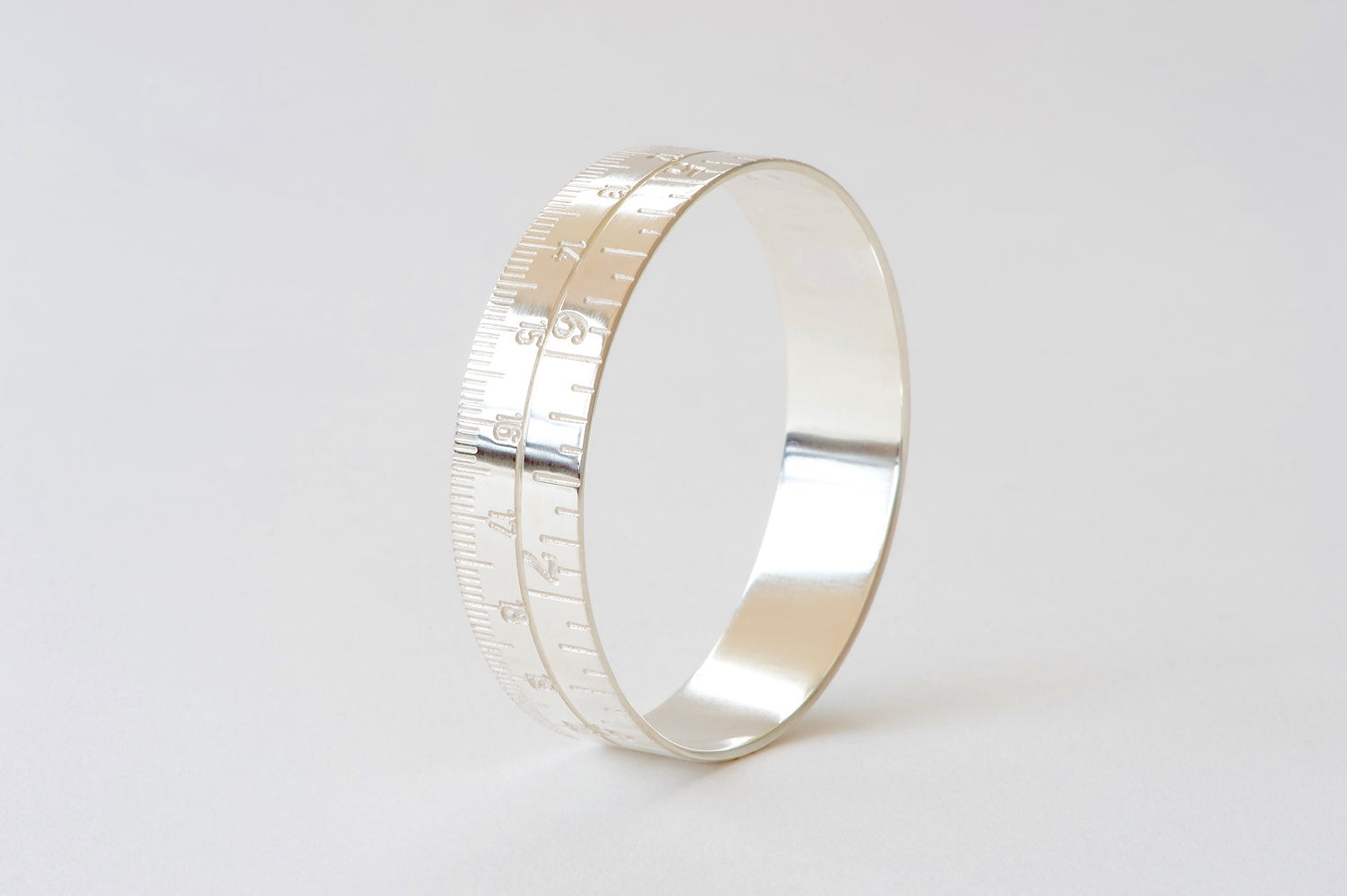 Tape Measure Bangle - silver