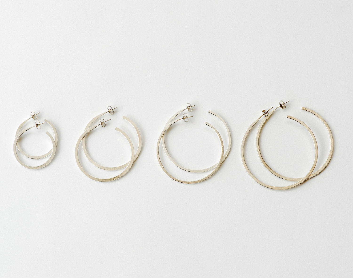 New Hoop Earring, Medium - silver