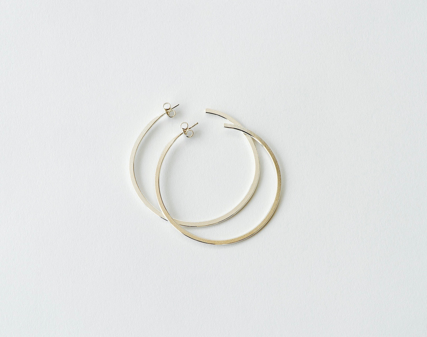 New Hoop Earring, Large - silver