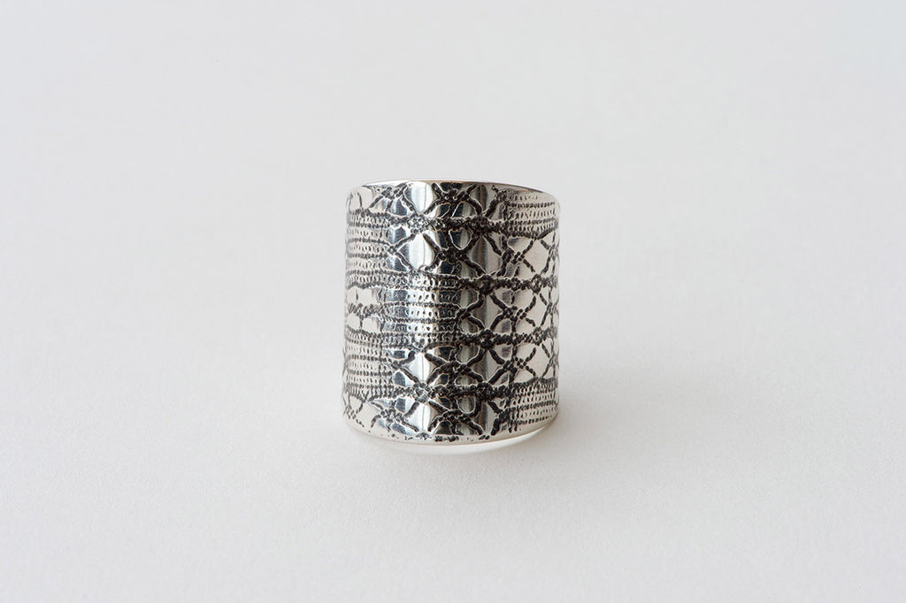 Ring, Lattice Lace - oxidised silver