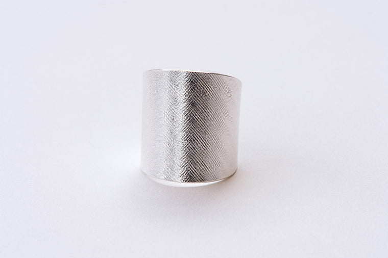 Ring, Moire - silver