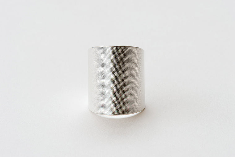 Ring, Plain Weave - silver