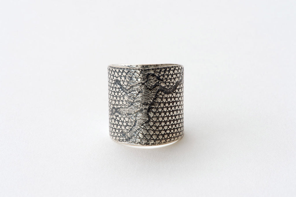Ring, Tennis Player - oxidised silver