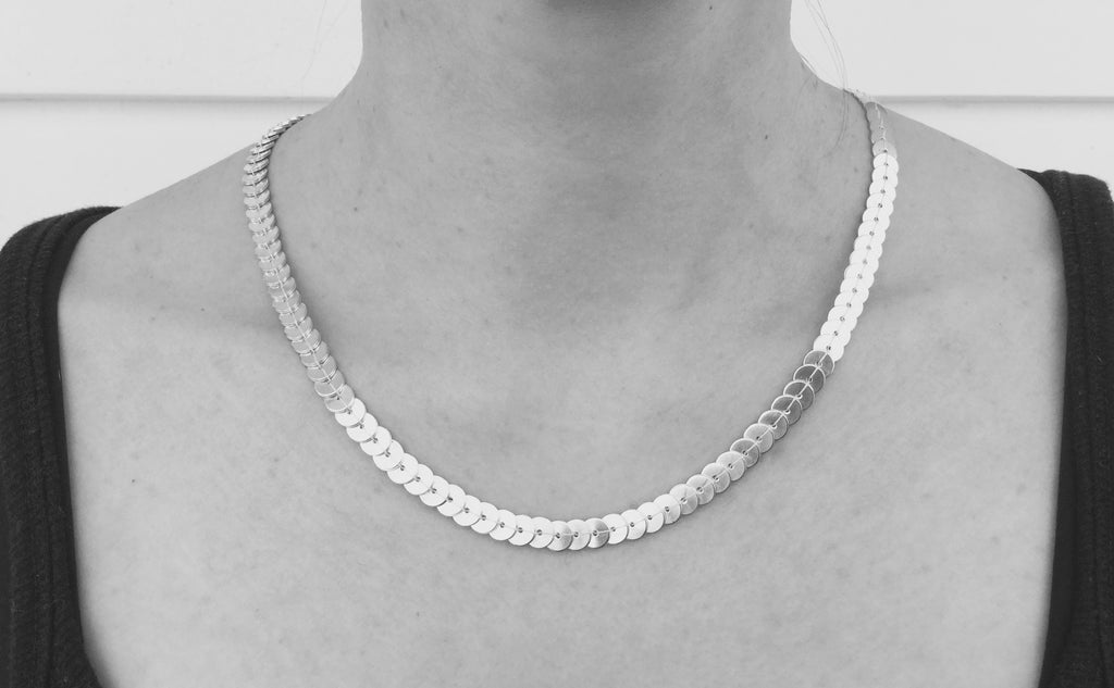 Sequin Necklace - silver