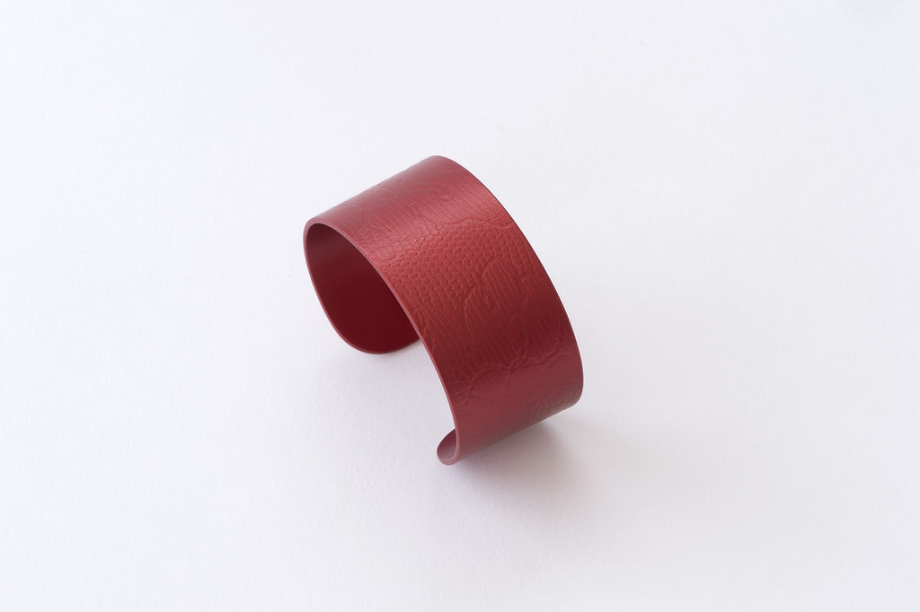 Anodised Cuff 3cm Cherry Red