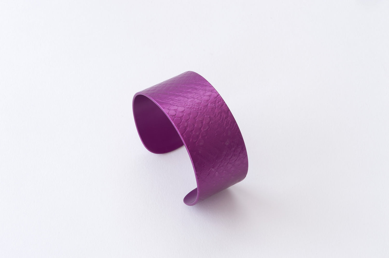 Anodised Cuff 3cm Purple