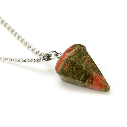 Natural Triangular Stone Necklace