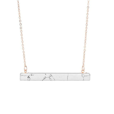 Natural Quartz Bar Necklace
