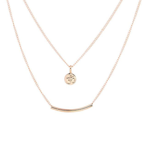 Om Double Layer Necklace – Meditationten.com